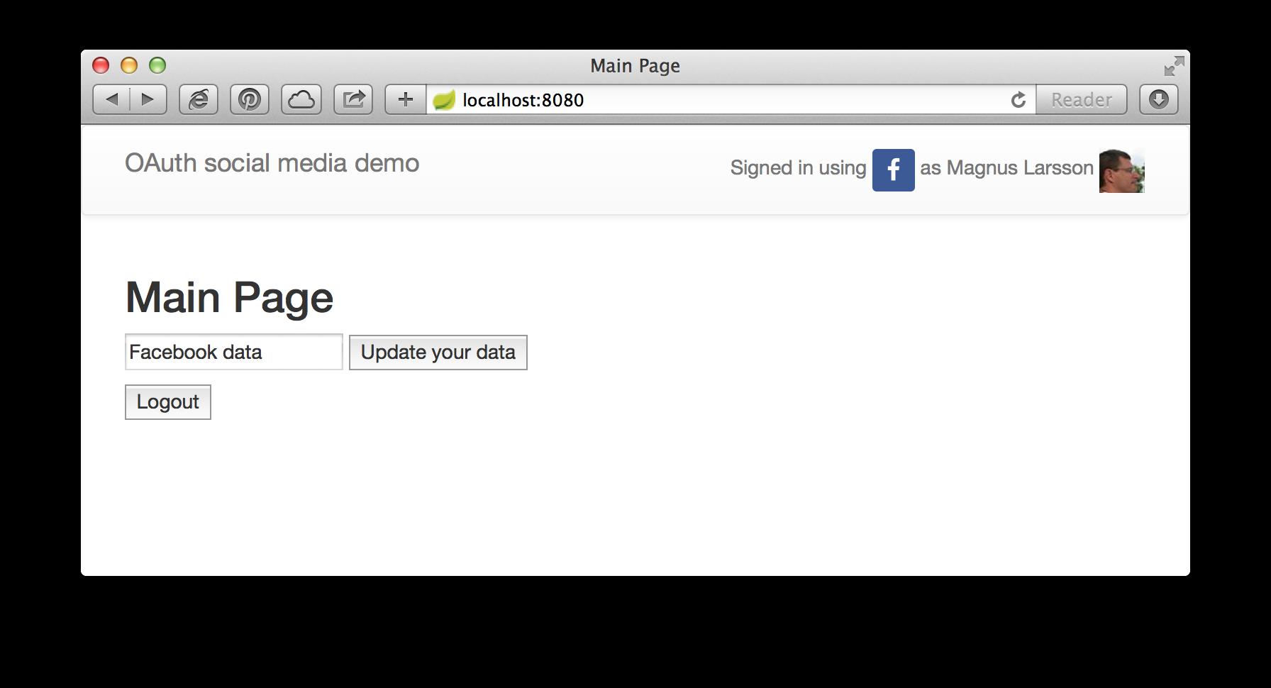 Adding social login to a website using Spring Social