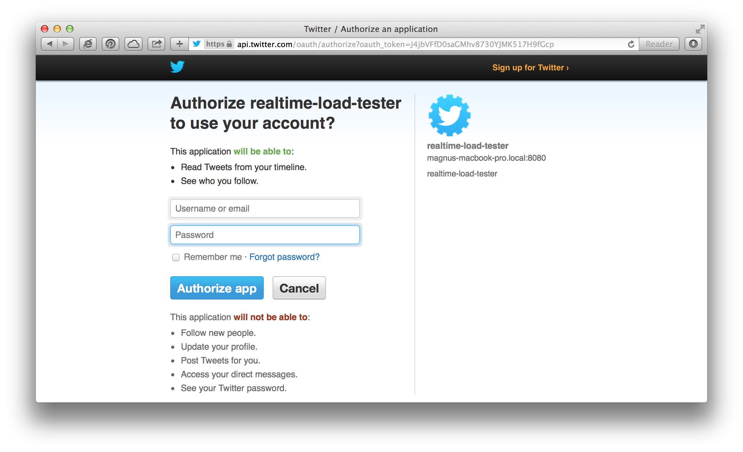 Adding social login to a website using spring social callista once the user is signed in the main page will display some profile information in the upper right corner and present a form where the user can store some baditri Gallery